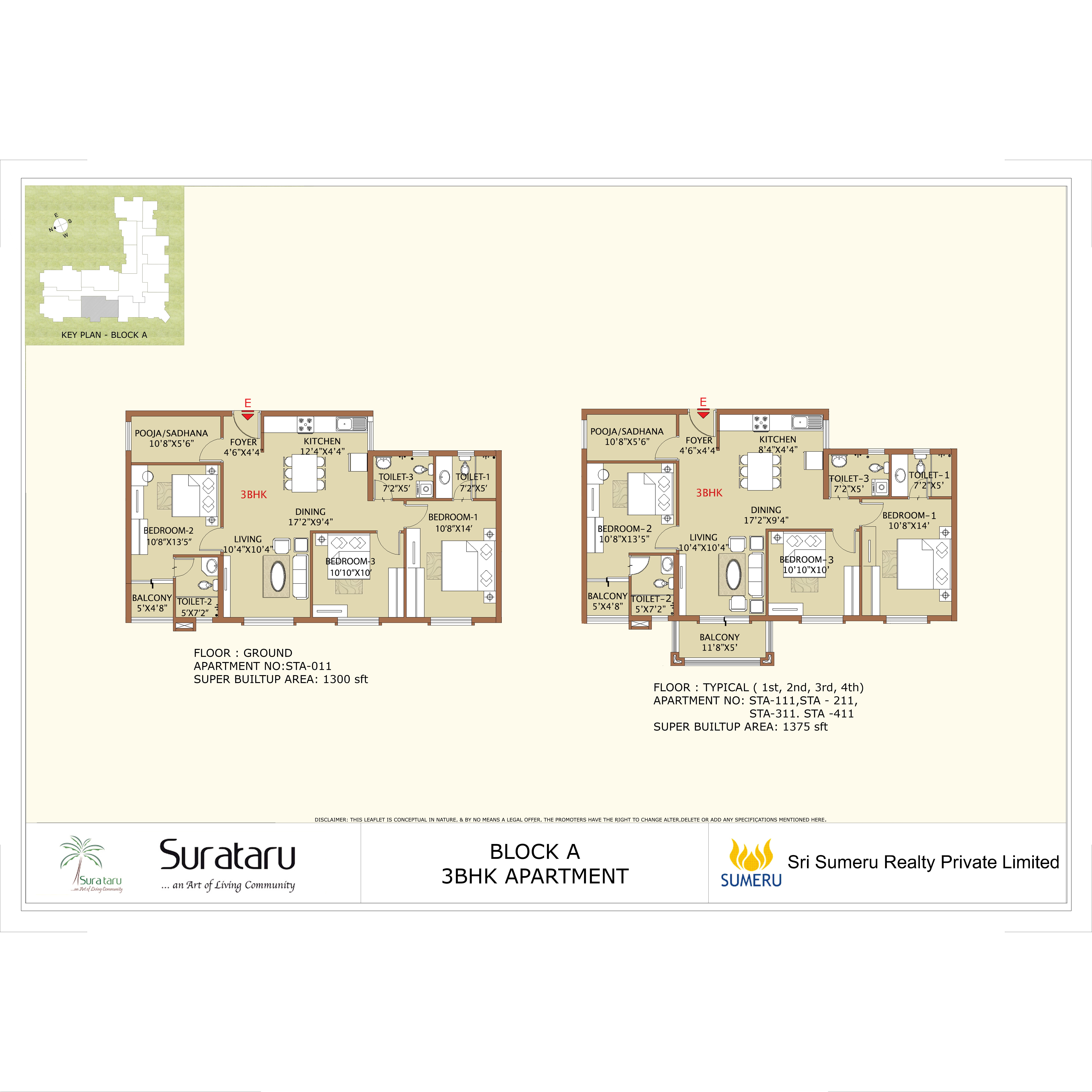 SURATARU 3 BHK 11 SERIES