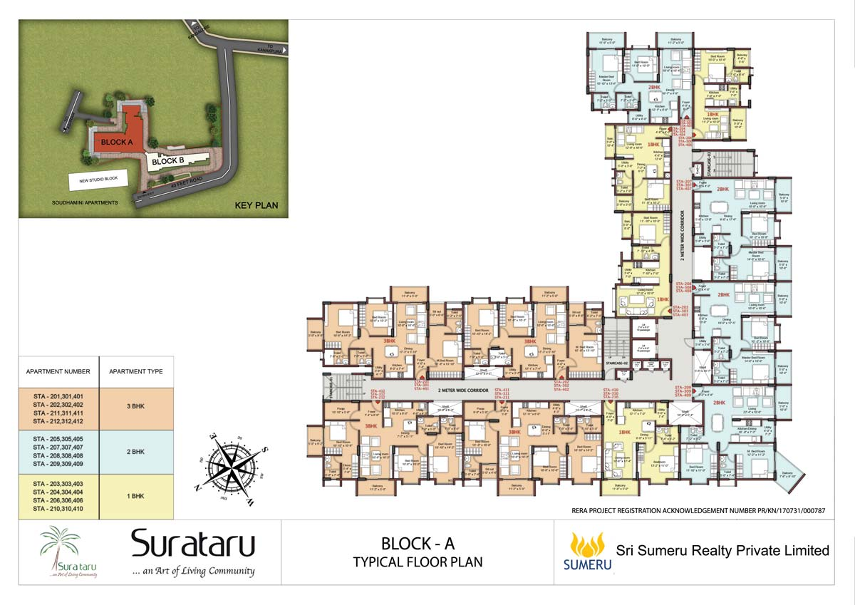 SURATARU - BLOCK A - TYPICAL FLOOR PLAN