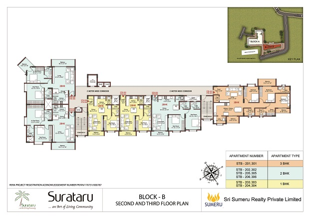 SURATARU's BLOCK B - TYPICAL FLOOR PLAN