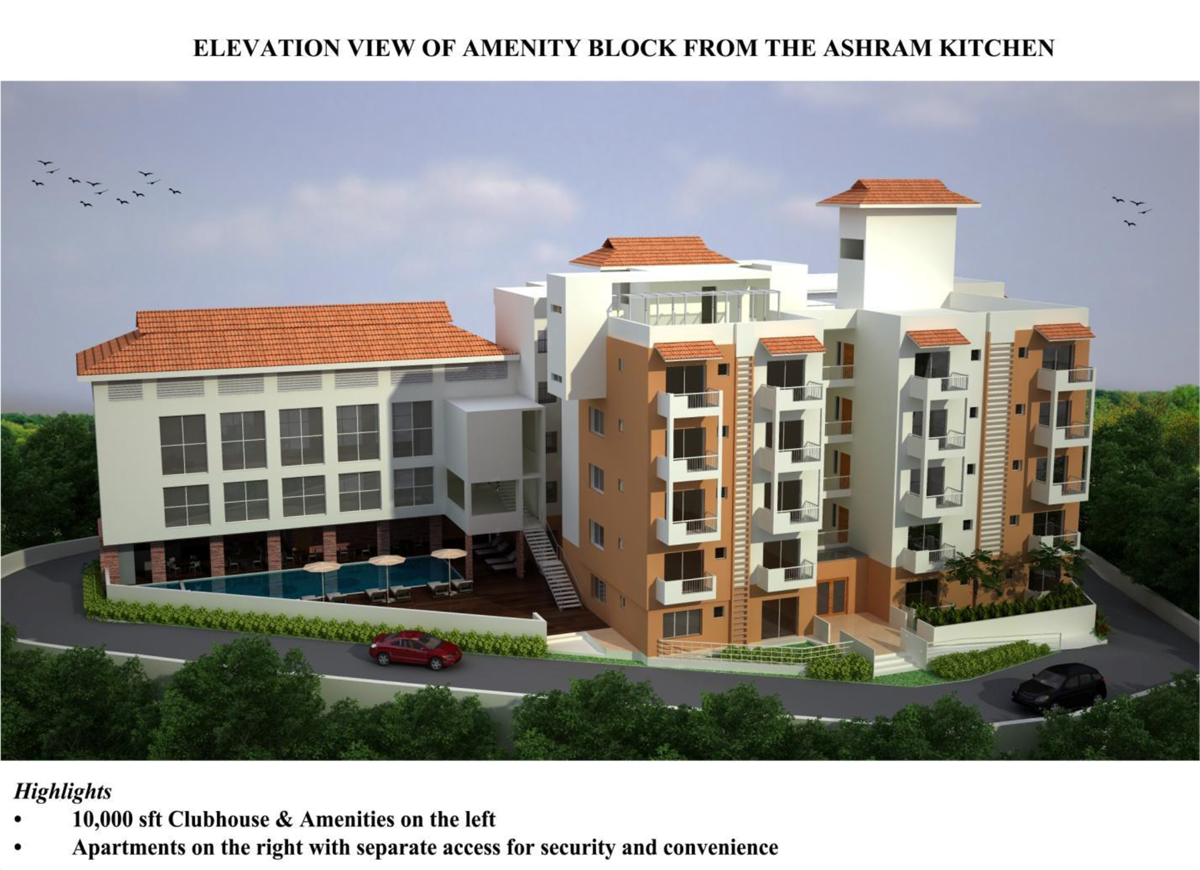 Elevation View of Amenity Block