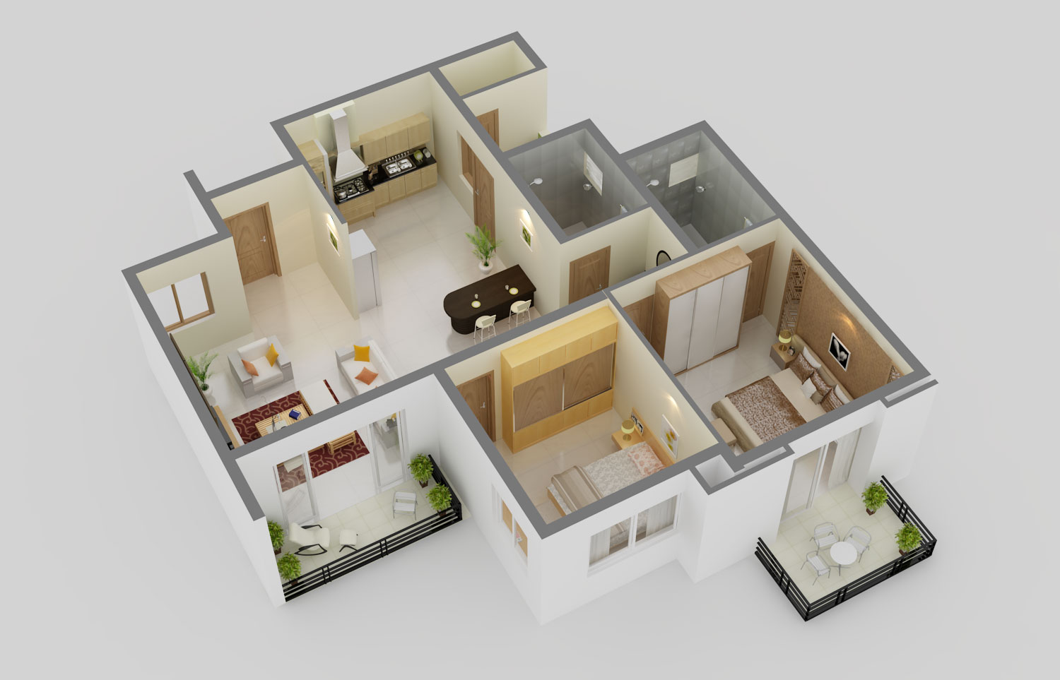 Soudhamini 2BHK Fllor Plan