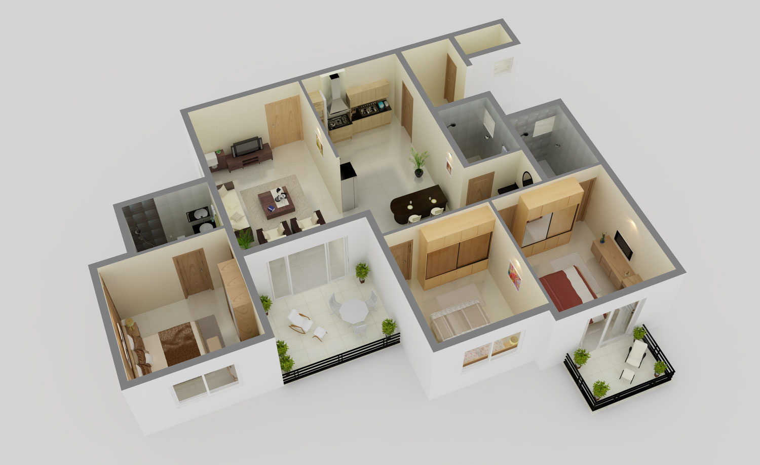 Soudhamini 3BHK Floor Plan